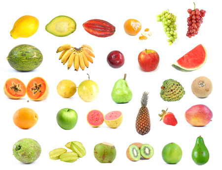collection with several types of fruits .