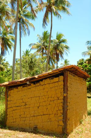 mud house: Poor Mud house in brazilian country . Stock Photo