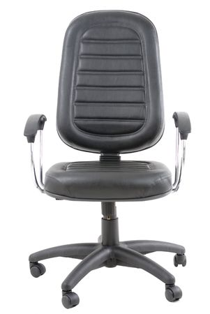 Black Office Chair on white background . photo