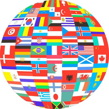 Many Flags of Countries in the World photo