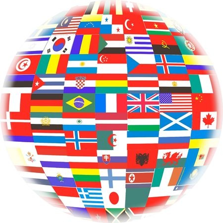 Many Flags of Countries in the World Stock Photo - 2371044
