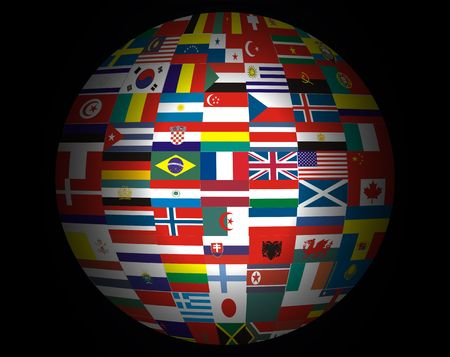 Lots Flags of Countries in the World . Stock Photo - 2371041