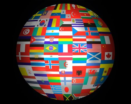 Lots Flags of Countries in the World . photo