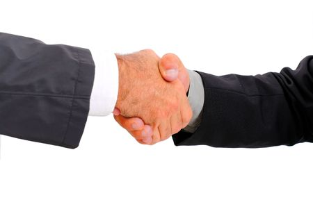 sucess: Shake Hands of businessman closing some contract . Stock Photo