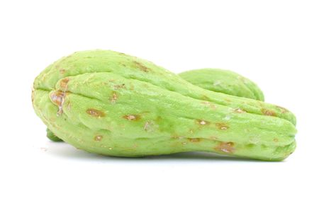 chayote: Fresh Chayote Vegetable on white background.