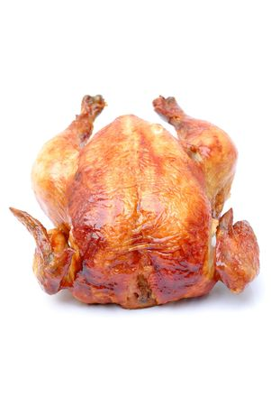 Tasty Crispy Roast Chicken on white . Stock Photo - 3033648
