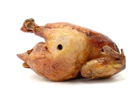 Tasty Crispy Roast Chicken on white . Stock Photo - 3033647