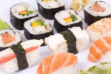 Traditional japanese food sushi - World Cuisine.