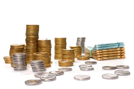 pillage: Money of Brazil - Brazilian Currency and Coins Stock Photo