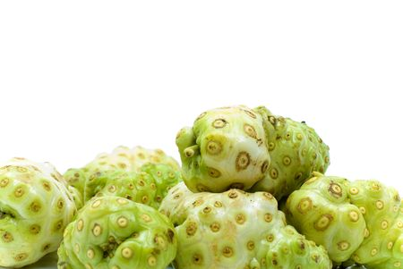 morinda: Exotic Fruit - Noni , Studio shot .