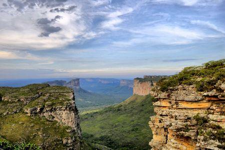 Wonderful Landscape in Brazil - Chapada Diamantina . Stock Photo