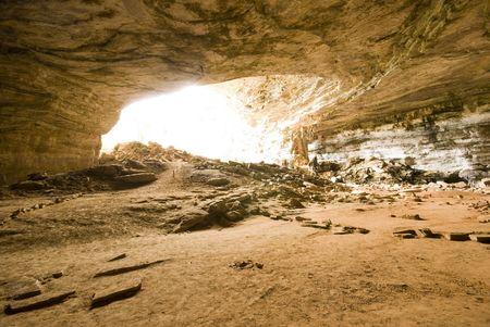 turismo ecologico: Cueva de metro - Chapada Diamantina - Brasil.
