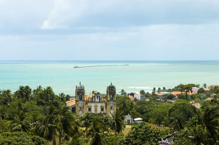View from Olinda - Recife city and bay .