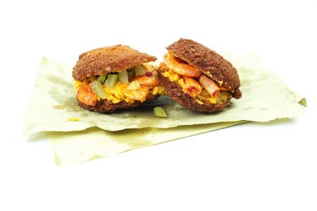 molhos: Acaraje, famous brazilian (african) fried cookie with sauces .