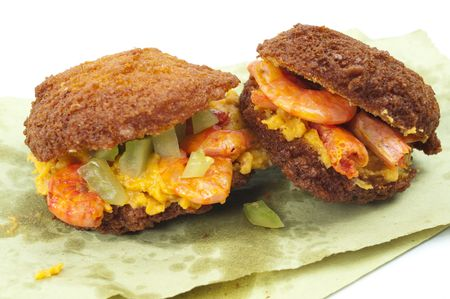 sauces: Acaraje, famous brazilian (african) fried cookie with sauces .