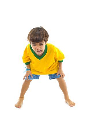 Young Child with Yellow Brazilian T-shirt. photo