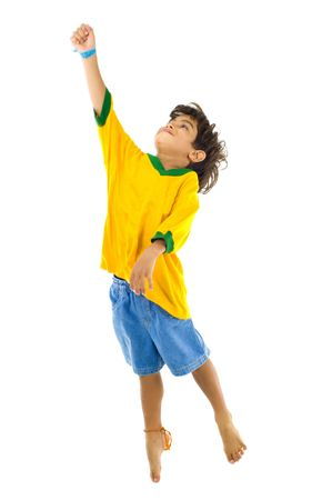 Young Child with Yellow brazil T-shirt  photo