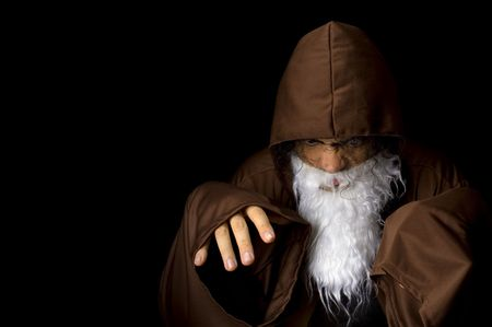 Wizard and his Crystal Ball - Waiting for your Future . Stock Photo - 6254688