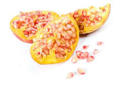 pommegranates: Pomegranate Fruit , Studio shot on white of .