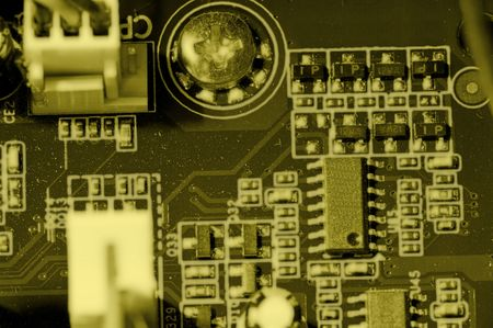 Detail of Computer mother board connections . Stock Photo - 7707939