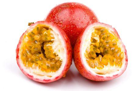 Passio Fruit isolated on white background .  Stock Photo - 7707944