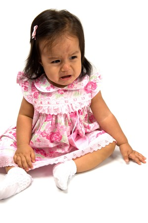 Portrait of a Cute Baby Crying.