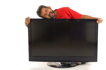 end user: End user happy with his new screen .