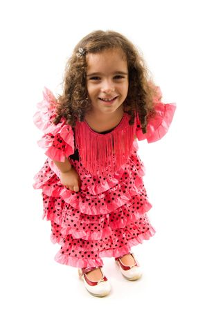Cute Girl with typical spanish clothes . Stock Photo - 8231741