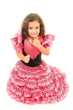 Cute Girl with typical spanish clothes Stock Photo