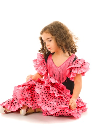Cute Girl with typical spain dancer clothes . Stock Photo - 8476363