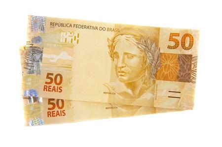Neue brasilianischen Währung - fünfzig Real. Lizenzfreie Bilder
