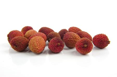 litschi: Lychee fruit isolated on white background .