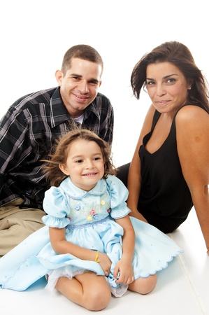 Beautiful family portrait on white background . Stock Photo - 9169156
