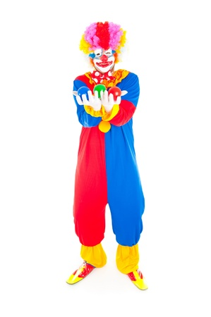 Adult Clown smiling holding colors balls Stock Photo - 9541920