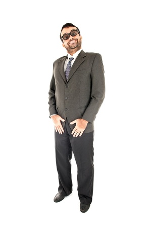 Happy Businessman standing on white background . Stock Photo - 9674738