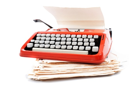 Old ribbon typewriter machine . Stock Photo - 9994948