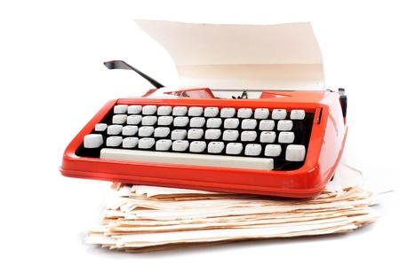 Old ribbon typewriter machine .