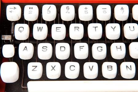 Old ribbon typewriter keyboard machine . Stock Photo - 10311756