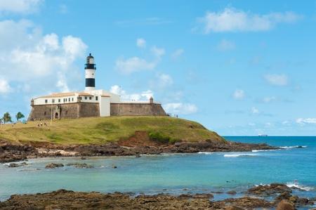 Leuchtturm von Barra, Salvador - Bahia - Brasilien Lizenzfreie Bilder