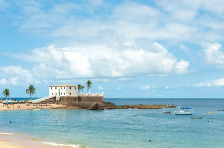 Porto da Barra Strand, Salvador - Bahia - Brasilien Standard-Bild - 10795562