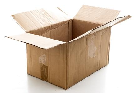 Empty hard paper box .