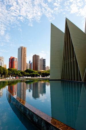 catolic: MARINGA, BRAZIL - MAY 17, 2014: Minor Basilica of Our Lady of Glory, Maringa, Parana, Brazil  Editorial