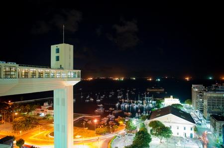 elevador: Sunset at Elevador Lacerda, Salvador da Bahia, Brazil Stock Photo