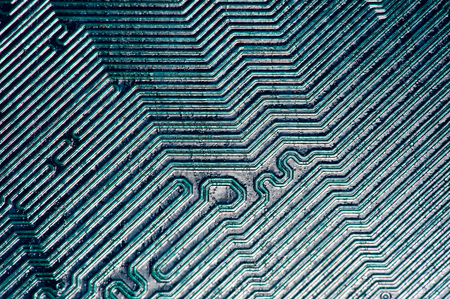 unusual angle: Computer mother board part circuitboards  Stock Photo