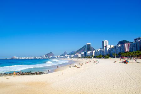 southamerica: Rio de Janeiro, Brazil - July 22, 2014: Copacabana beach, Rio de Janeiro city