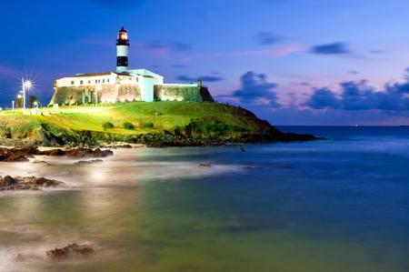 Salvador da Bahia, Brazil - Barra lighthouse .