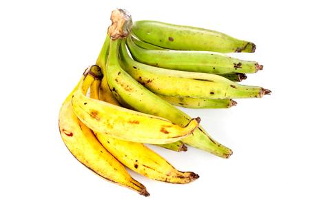 plantain: Plantain fruit over white blackground . Stock Photo