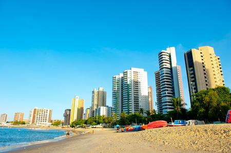 northeast: FORTALEZA, BRAZIL - NOVEMBER 1, 2014: Coast Line of Fortaleza, Ceara State, city of northeast of Brazil . Editorial