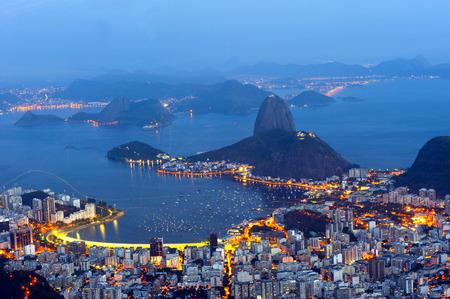 Panorama von Corcovado moutain, Rio de Janeiro.
