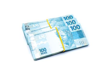 brazilian: 100 BRL - brazilian currency Stock Photo